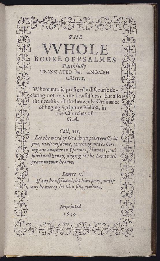 Массачусетская книга псалмов. Одна из самых дорогих книг в мире.