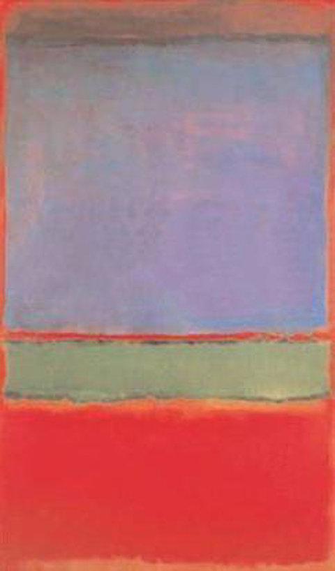 Марк Ротко, No. 6 (фиолетовое, зелёное и красное)