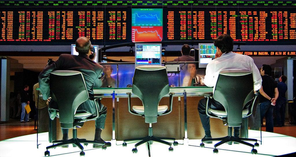 На бирже
