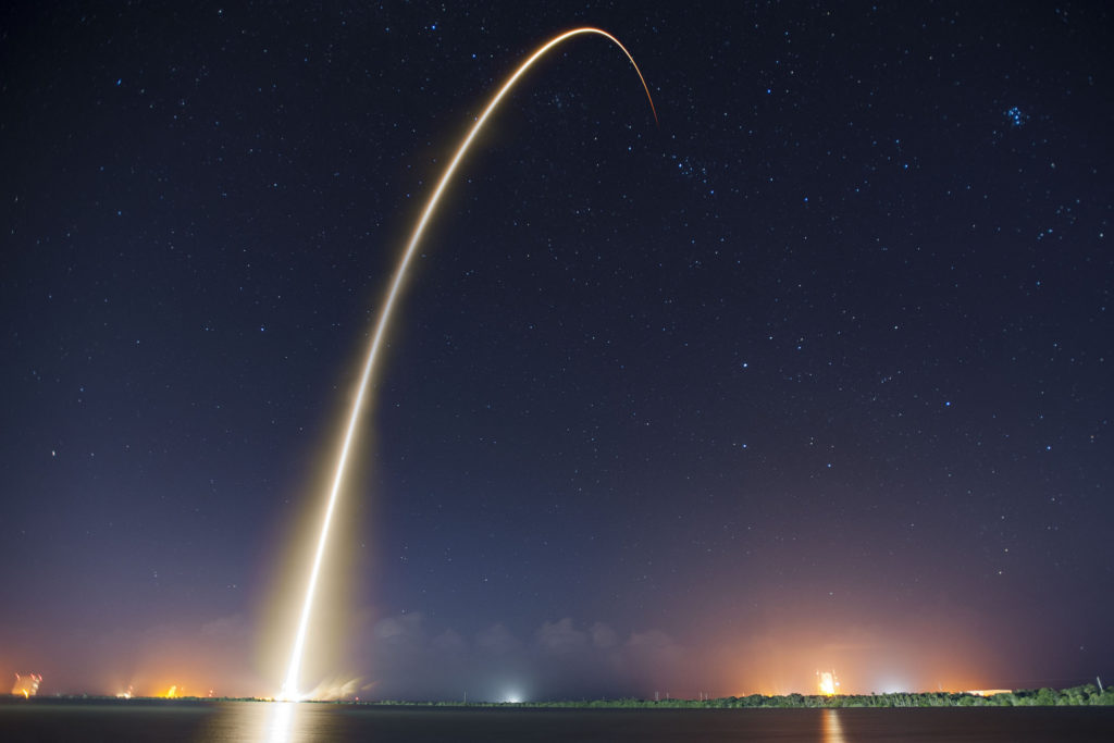 Запуск ракеты SpaceX.
