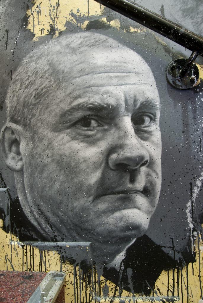 Дэмиен Херст, портрет, граффити
