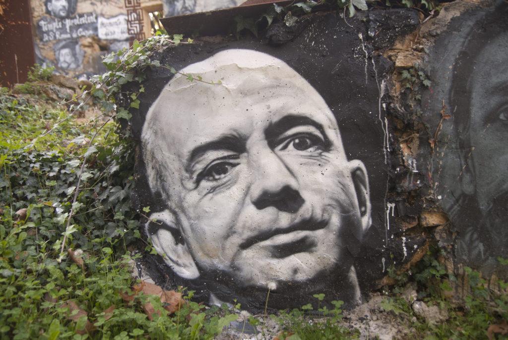 Джефф Безос, граффити.