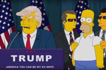Дональд Трамп в Симпсонах и Южном Парке