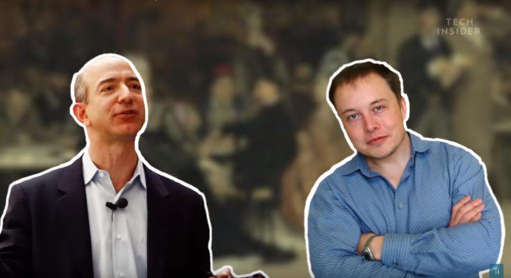Долгие годы Джефф Безос и Илон Маск пребывают в состоянии затяжной ссоры.