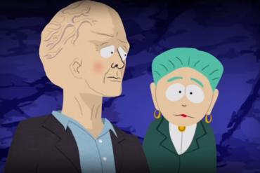 Джефф Безос в Южном парке — суперзлодей-телепат с гигантским мозгом